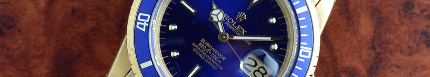 Rolex Submariner 1680/8 Gold Blue Dial. $29,900